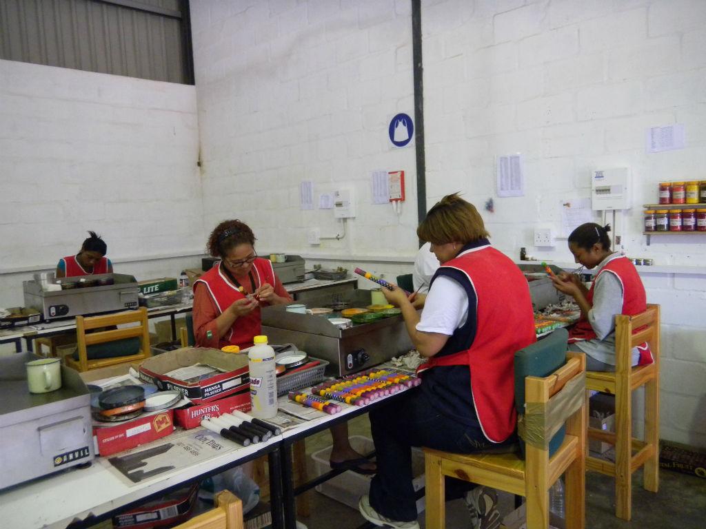 Werkstatt einer Kerzenproduktion